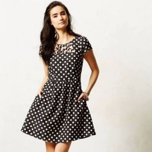 Anthropologie Nikola Polka Dot Print Dress